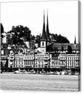 Lucerne In Monochrome Canvas Print