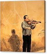Luchese Street Musician Canvas Print