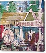 Lumber Mill Canvas Print