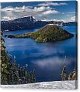 Luminous Crater Lake Canvas Print
