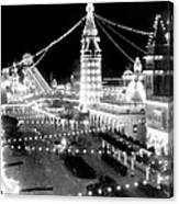 Luna Park - Coney Island - New York At Night - C 1903  Canvas Print