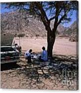 Lunchtime In The Desert Of Sinai Canvas Print