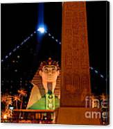 Luxor At Night Canvas Print