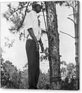 Lynched African American Man Hanging Canvas Print