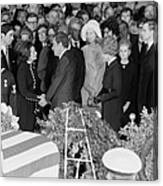 Lyndon Johnson Funeral. President Nixon Canvas Print
