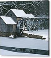 Mabry Mill Winter Canvas Print