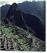 Machu Picchu, A Pre-columian Inca Ruin Canvas Print