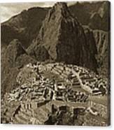 Machu Picchu Sepia Canvas Print