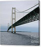 Mackinac Bridge From Water Canvas Print