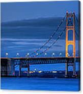 Mackinac Bridge In Evening Canvas Print