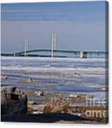 Mackinac Bridge Southwest Canvas Print