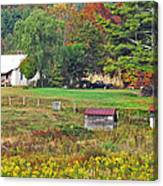 Mack's Farm In The Fall Canvas Print