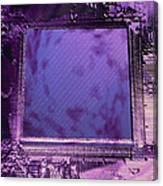Macrophotograph Of An Intel Computer Microchip Canvas Print