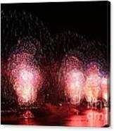 Macy's Fireworks On The Hudson Canvas Print