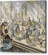 Macys Holiday Display, 1876 Canvas Print