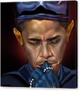 Mad Men Series 1 Of 6 - President Obama The Dark Knight Canvas Print