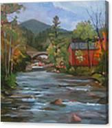 Mad River And Campton Bridge Canvas Print