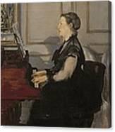 Madame Manet At The Piano Canvas Print