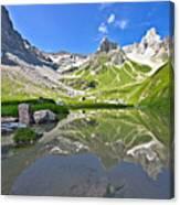 Madautal At Lechtaler Alpen Canvas Print