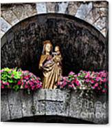 Madonna And Child Arch Canvas Print
