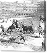 Madrid: Bullfight, 1846 Canvas Print