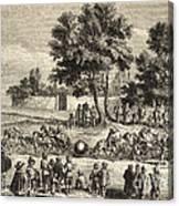 Magdeburg Hemispheres, 17th Century Canvas Print