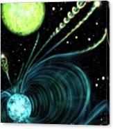 Magnetic White Dwarf Star Euvej0317-855 Canvas Print