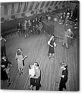 Mahers Dance Hall, Showing Orchestra Canvas Print