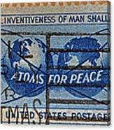 Mail Early For Christmas And Peace Canvas Print