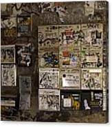 Mailboxes With Graffiti Canvas Print