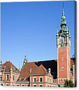 Main Railway Station In Gdansk Canvas Print