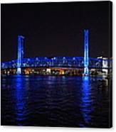 Main Street Bridge At Night Canvas Print