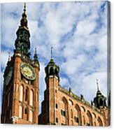Main Town Hall In Gdansk Canvas Print