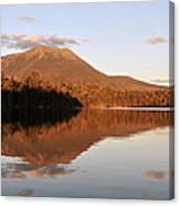 maine 25 Baxter State Park Mt. Khatahdin Reflection in Daicey Pond Canvas Print