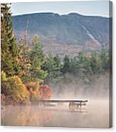 maine 26 Baxter State Park Mt. Khatadin Morning Mist on Daicey Pond Canvas Print