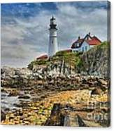 Maine Head Light Canvas Print