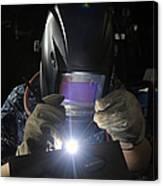 Maintenance Technician Uses A Tig Canvas Print