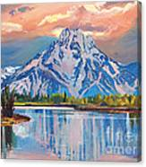 Majestic Blue Mountain Reflections Canvas Print