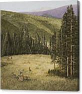 Majesty In The Rockies Canvas Print