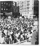 Malcolm X, Speaking To An Outdoor Rally Canvas Print