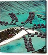 Maldives Aerial Canvas Print