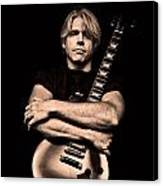 Male Guitarist Canvas Print