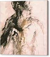 Male Portrait 3 Canvas Print