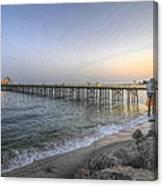 Malibu Pier Restaurant Canvas Print