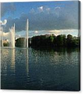 Malmoe Fountains Canvas Print