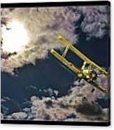 Man In Flight Canvas Print