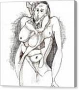 Man In Woman Canvas Print