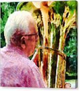 Man Playing Tuba Canvas Print