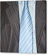 Man Wearing A Suit And Tie Canvas Print