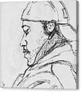 Man With Earphones Canvas Print